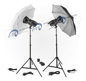 Kit Estúdio Fotográfico 500w 220v Flash Greika Godox Eg-250b