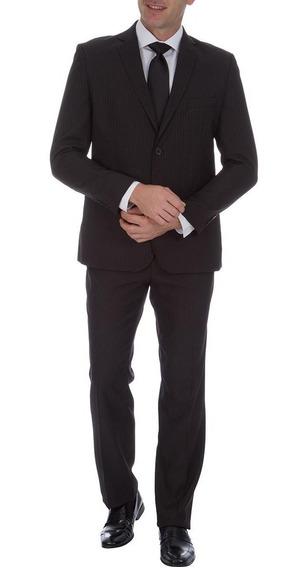 Terno Colombo Masculino Preto Texturizado