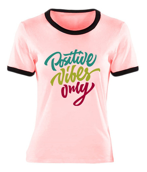 Remera Positive Viebes Only Ringer