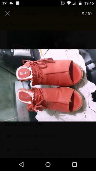 Zuecos Cuero Tiziano Coral