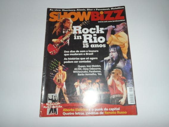 Revista Showbizz - Rock In Rio - Queen, Legião, Alanis, Blur