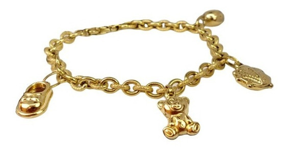 Barato! Pulseira Pendentes Luxo Ouro 18k Love Lana 2094