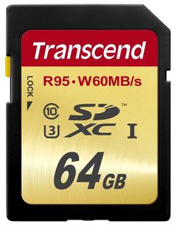 Transcend 64 Gb Alto Velocidad 10 Uhs -3 Tarjeta Memoria Fla