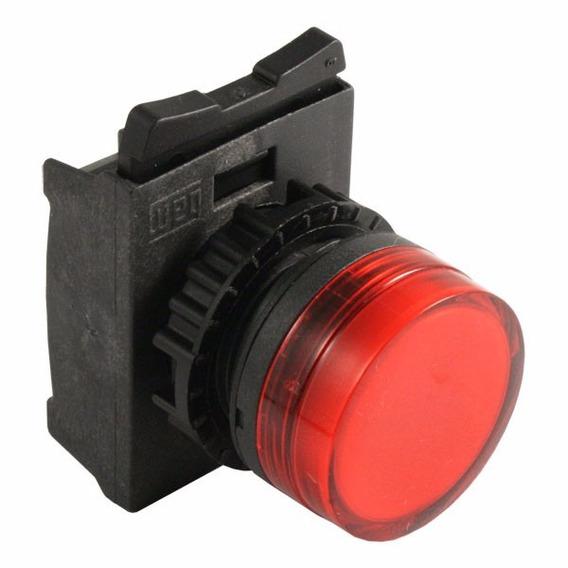 Frontal Sinaleiro Difuso Vermelho 22mm Weg Csw-sd1 Kit 4pçs