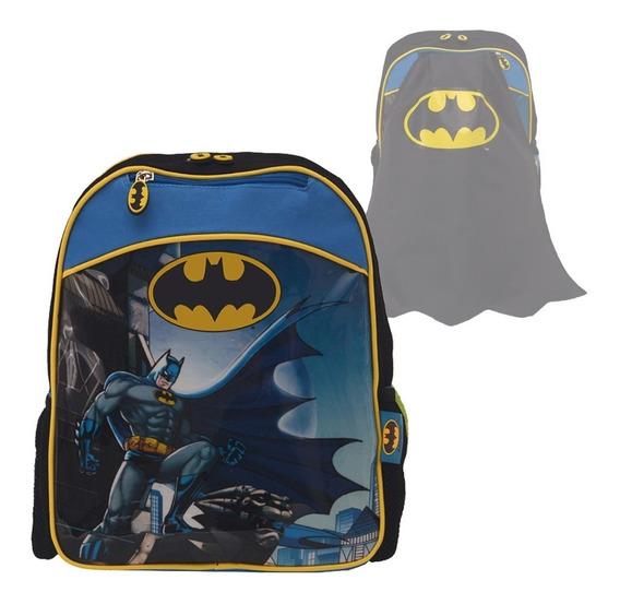 Mochila Batman Con Capa Escuela 30cm Espalda 12 Jardin Cuota