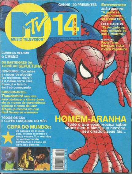 Revista Mtv N 14-rita Lee,sepultura,rpm,paulo Ricardo