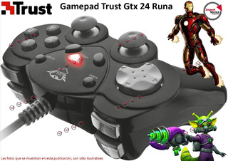 Gamepad Trust Gtx 24 Runa Usb Compact Gamepad Pc
