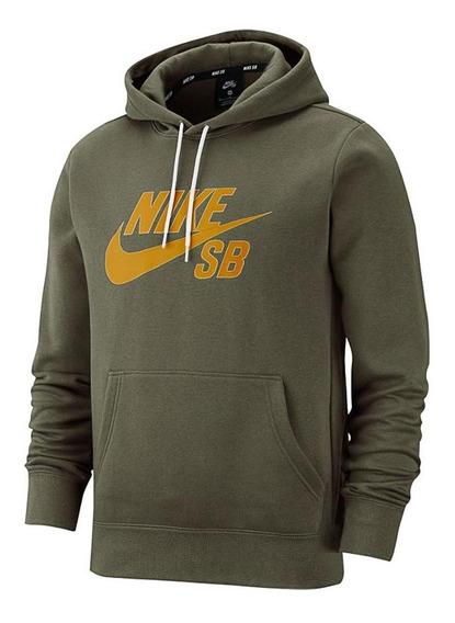 Sudadera Nike Sb Icon Hombre Verde Aj9733-223