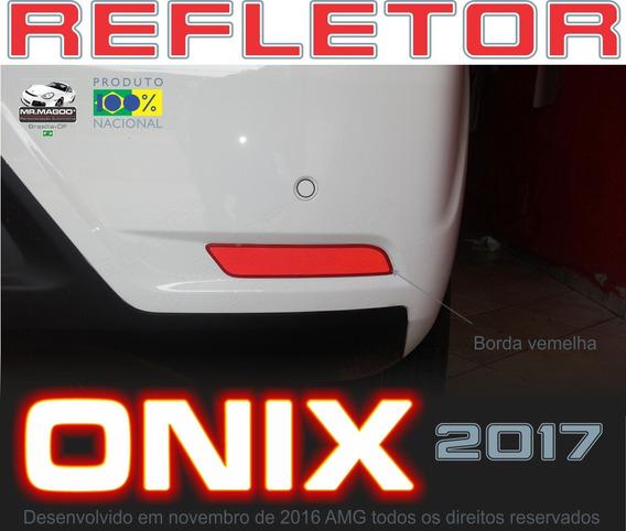 Refletor Traseiro Onix 2017 Refletivo Adesivo Mr.magoo*