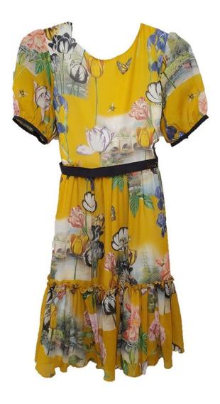 Vestido Infantil Festa Petir Cherie Nature 018
