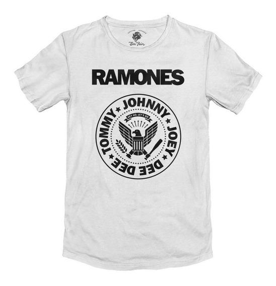 Remera Ramones Punk Rock Blanca Algodón Peinado 24/1