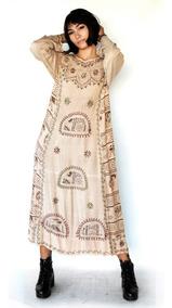 Vestido Longo Indiano Bordado