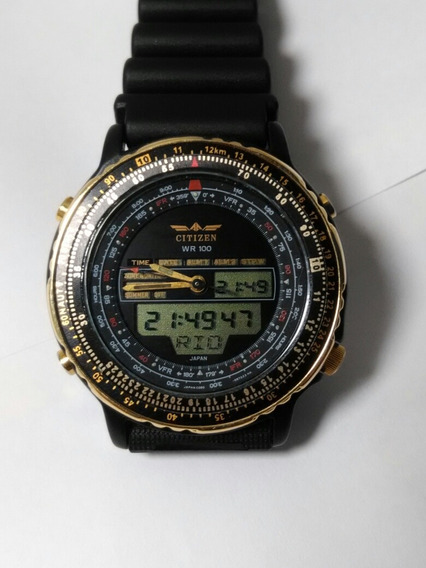 Relógio Original Citizen New Wingman C080 Black Gold