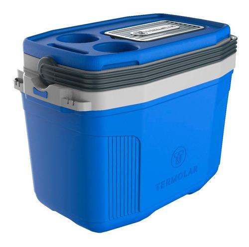 Caixa Térmica Suv 20 Litros Cooler Termolar Azul E Cinza
