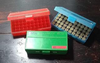 Tres Cajas Porta Munición Mtm Case-gard P50 .45 Acp