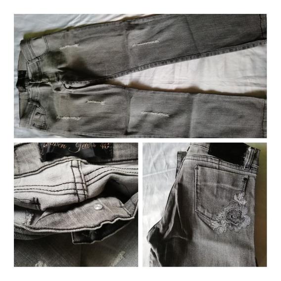 Lote De 4 Jeans Mujer Talle 38 Y 40 Usado