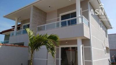 Casa Duplex Luxuosa 3 Qts Sendo Uma Suite, Piscina, Área Gourmet, Boiler De Aquecimento Solar, Bosque Da Areia - Rio Das Ostras - Ca0114