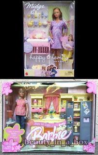 Embarazada Midge Barbie Doll Baby Happy Family Play All Day