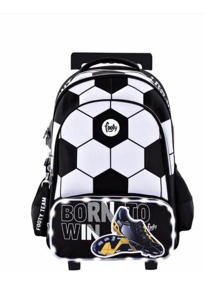 Mochila Footy Original Carro Futbol Luz Led 18 Mod1101