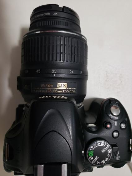Nikon D5100 Com Lente 18-55 E Acessórios Bem Conservada