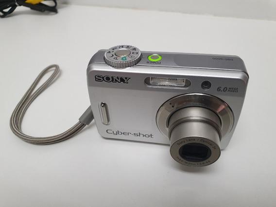 Câmera Digital Sony Cyber-shot 6.0 Mp Dsc-s500 Com 2gb