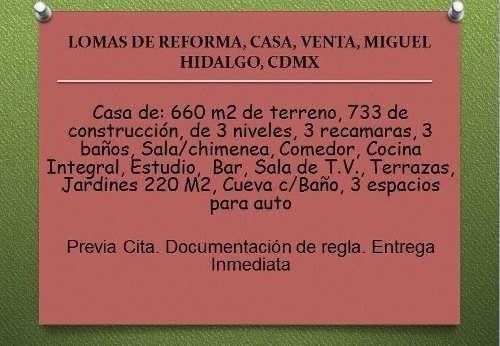 Lomas De Reforma, Casa, Venta, Miguel Hidalgo, Cdmx