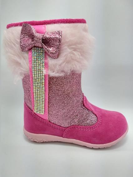 Bota Infantil Brink Pink Rosa Pelo 20 Ao 27