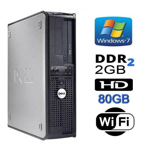 Cpu Dell Mini Optiplex Dual 2gb Hd 80gb Wifi Dvd