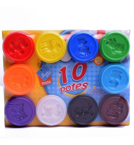 El Duende Azul Masa Pote X 10 Unidades 60 Gramos Art 6051