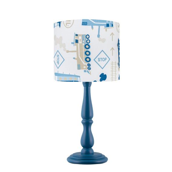 Luminária Abajur Quarto Menino Piuí Azul Trenzinho Carambola