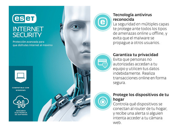 Eset Internet Security 1 Lic 2 Años
