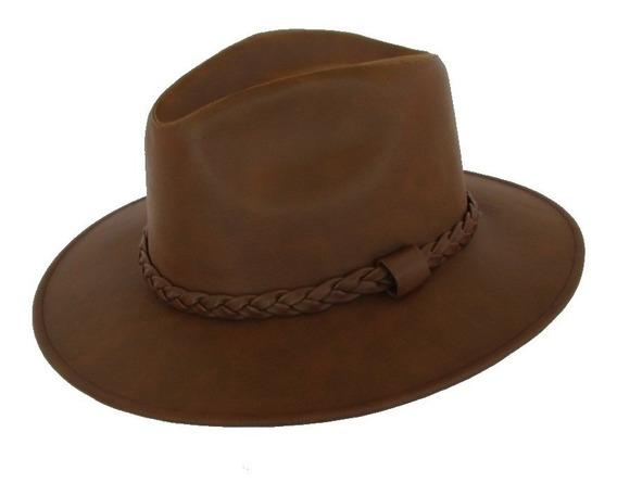 Sombrero Unisex Explorer Imit. Piel Liso.