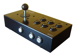 Playcade Full Negro, Joystick Arcade Mame Usb 10 Bot.+ Turbo