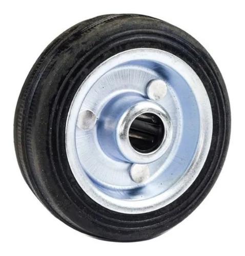 Imagem 1 de 10 de Roda Borracha C/ Nucleo De Aço Zincado 3 75mm Beltools