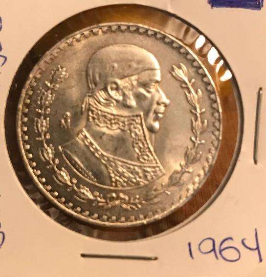 Coleccionable Moneda 1 Peso Morelos Plata .100 1964