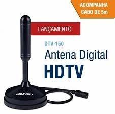 Antena Digital Interna Externa 360 Graus Uhf Vhf Hdtvfull Hd
