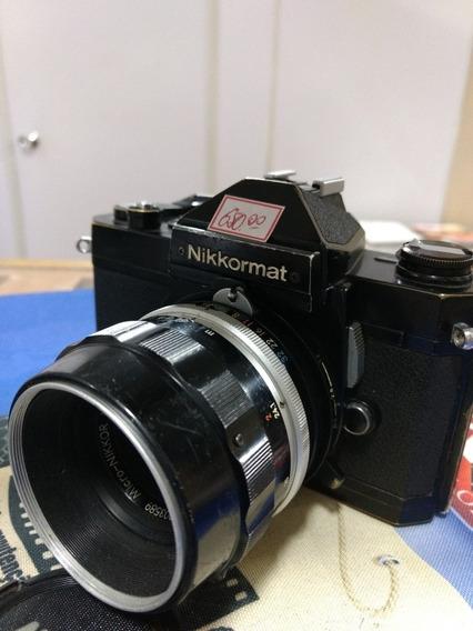 Nikon Nikkormat Ft 2 Com Lente Micro 55 Mm 3.5