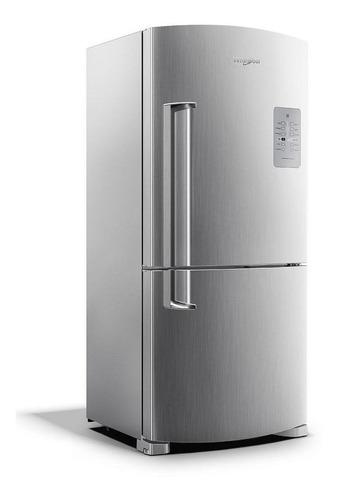 Heladera no frost Whirlpool WRE80 inox con freezer 573L 220V