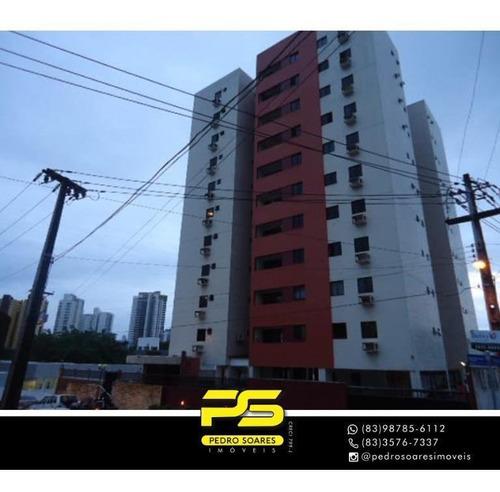 Apartamento Com 3 Dormitórios À Venda, 95 M² Por R$ 350.000 - Miramar - João Pessoa/pb - Ap4466