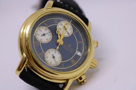 Relógio Maurice Lacroix Cronografo Fundo Azul De R$ 2999