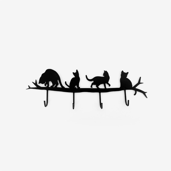 Portallaves Diseño Gato C/ganchos Decoración Morph