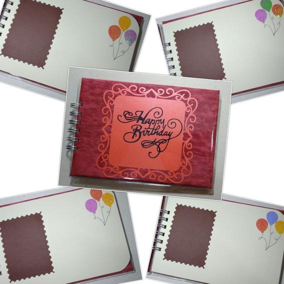 Álbum De Assinatura Aniversário Para Fotos Instax Mini