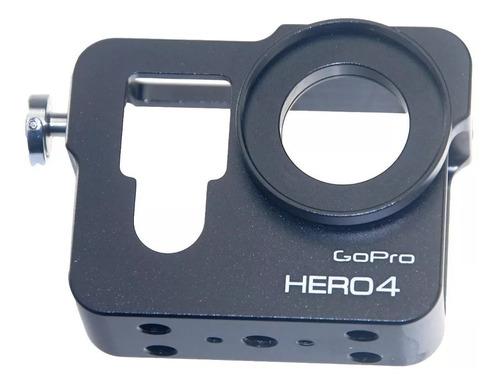 Case De Alumínio Para Gopro Hero 3, 3+, 4 Silver, 4 Black.
