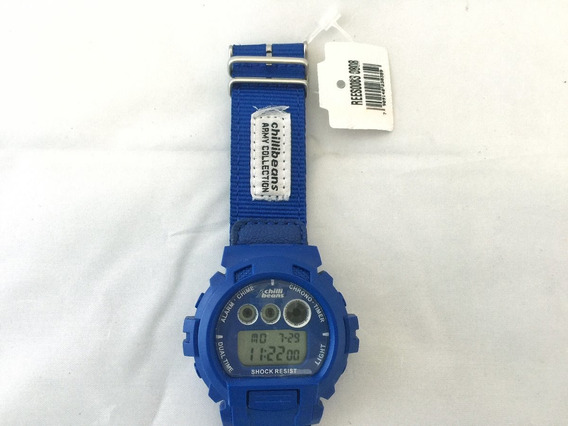 Relógio Chilli Beans Army Azul Original Envio Imediato