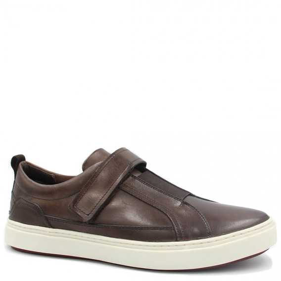 Sapatênis Zariff Shoes Em Couro Elastano Marrom Zmg2