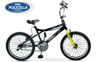 Bicicleta Stark R20 6078 Freestyle Black Con Rotor