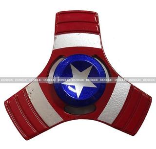 Fidget Spinner Metalico De Capitan America