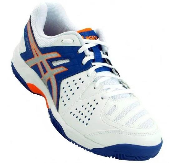 Tênis Asics Gel Dedicate 4 - Branco/azul/laranja