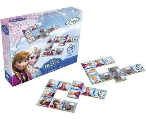 Jogo Brinquedo Retro Dominó Educativo Frozen Disney Promoção