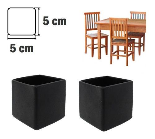 Ponteira Protetora Pé De Cadeira Mesa Banqueta 5x5cm - 4 Pç